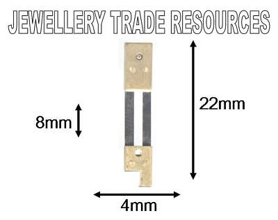 CLOCK SUSPENSION SPRING TOP QUALITY STEEL BRASS 22mm long 4mm wide