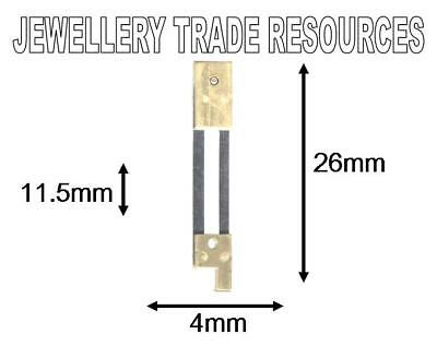 CLOCK SUSPENSION SPRING TOP QUALITY STEEL BRASS 26mm Long x 4mm Wide