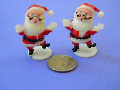 VINTAGE,COLLECTIBLE, 6 MINI, SANTAS, Made in Hong Kong