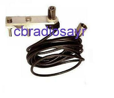 Flat Bar Mirror Mount Kit with Cable for 3/8 CB Radio Antenna Aerials
