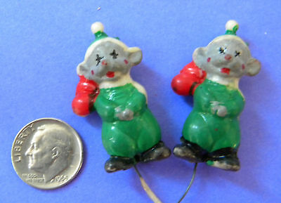 VINTAGE, COLLECTIBLE, PLASTIC CLOWNS (2),  Hong Kong