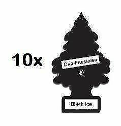 10 x Black Ice Magic Little Trees Car Valeting Air Fresheners Smellys Fresh
