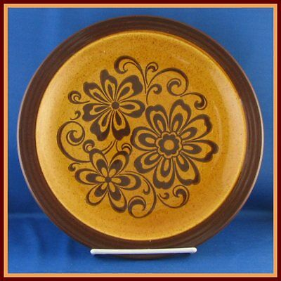 Homer Laughlin Gold Glade Dinner Plate Brown Floral
