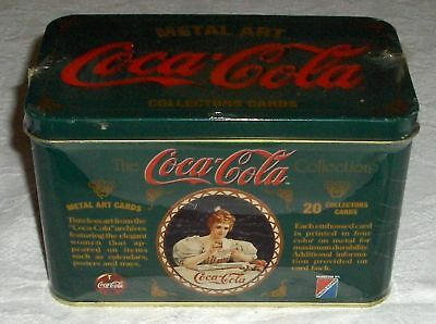 1994 Coca-Cola Metal Art Collector Cards Unopened Tin
