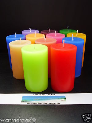 Handmade scented aromatherapy coloured 2 inch x3 inch pillar candle choose scent