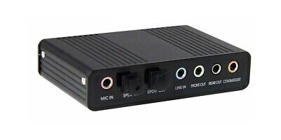 USB 5.1 Multi-Channel Surround Sound Adapter With Optical Audio Input Output