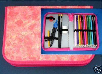 Personalised Colouring Pencils And Stationery Set In Pink Case