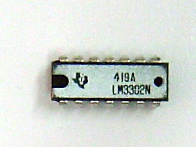 LM3302N (Lot of 5) Quad Voltage Comparator 14-Pin DIP