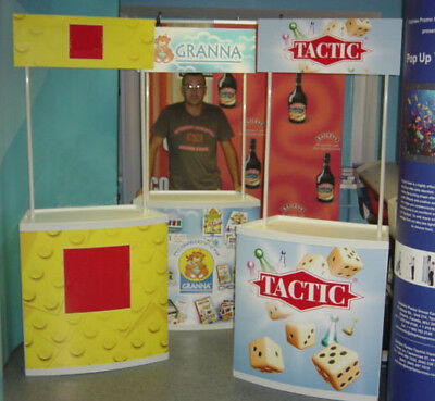 3 UNITS Promotional Booth Counter Table + FREE GRAPHICS