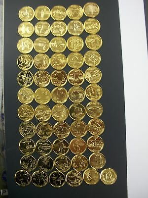 1999-2009 Complete Set of 24kt. Gold Plated Quarters
