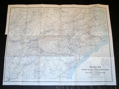 """Military Map of the Marches of US Forces of Sherman"""