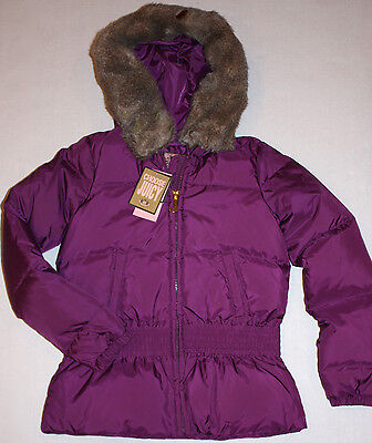 NWT Girls Juicy Couture Purple Hooded Down Coat Size 12