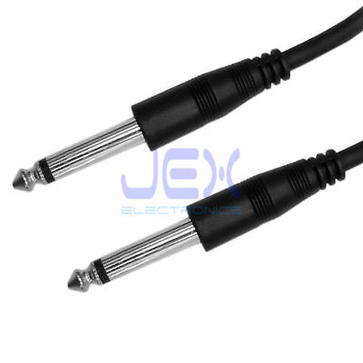 """3ft Guitar to Amp Cable 6.35mm 1/4"""" Mono Male to Male Lead DJ Audio Cable 1M"""