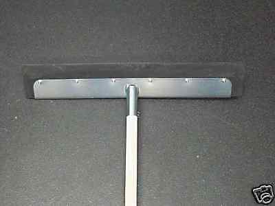 Metal Floor Squeegee With 5ft Shank Heavy Duty 1 x 24''