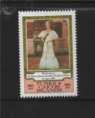 Turks & Caicos 1980 80th B/Day Queen Mother SG 607 MNH