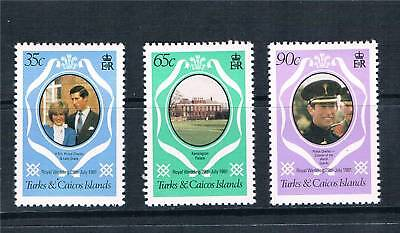 Turks & Caicos 1981 Royal Wedding P.12 SG 653/5 MNH