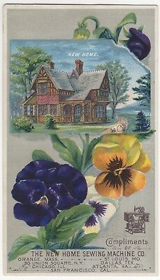 Trade Card New Home Sewing Machine - Springvale, ME