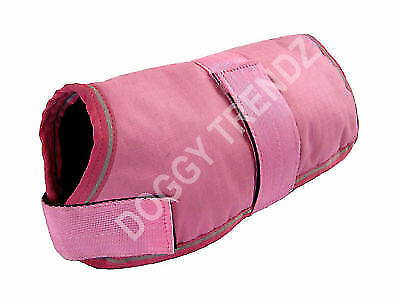 PINK WATERPROOF DOG COAT FUR LINING WARM LUXURY SIZES AVAILABLE SIZE 10'' to 30""