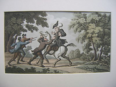 Engravings Dr.syntax Rowlandson Early 19Thc Highwaymen