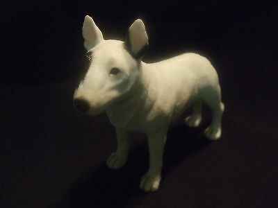 Statue de collection LEONARDO - chien  BULL TERRIER