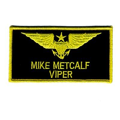 4 inch TOPGUN MIKE METCALF (VIPER) IRON ON NAME PATCH