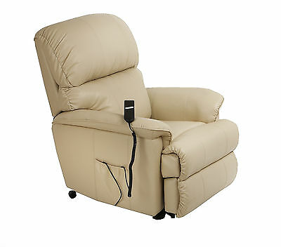 Canterbury Leather Electric Rise Recliner Chair Riser with heat / masssage