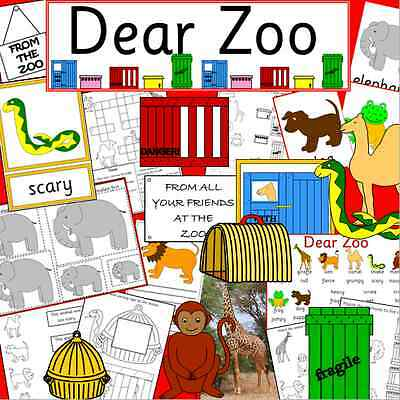 DEAR ZOO -teaching resources TO PRINT -story telling, EYFS, KS1, animals
