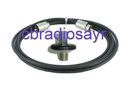 3/8 Flat Surface Mount Kit Suitable for CB Radio Antenna Aerial
