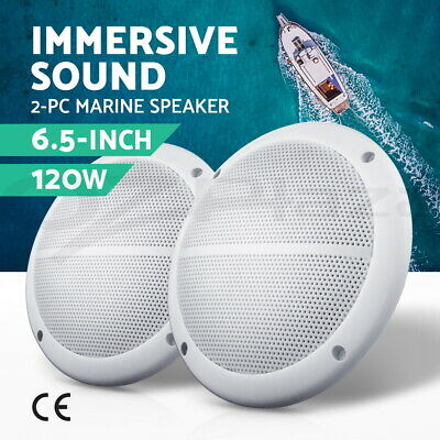 "Giantz 2x6.5"" Inch 2-Way Outdoor Waterproof Marine Speaker 120W Pair Boat Audio"