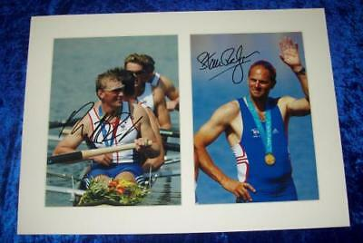 Steve Redgrave & Matthew Pincent 8x12 Signed Mounted Photos AFTAL/UACC RD