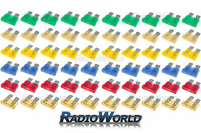 120 Assorted Car Automotive Standard Blade Fuse Fuses 5 10 15 20 25 30 AMP