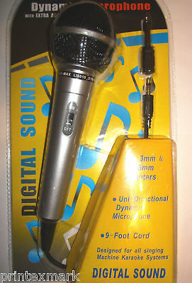 Microphone With 6 Ft Cord Uni-Directional Dynamic New