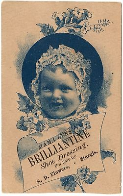 Trade Card: Brilliantine Shoe Dressing - Sturgis, MI