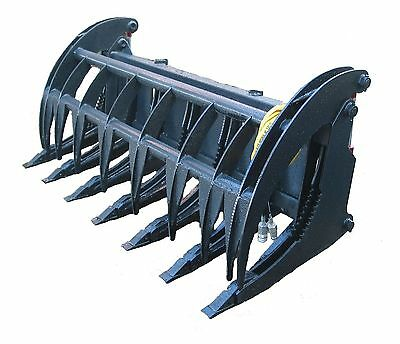 """New 66"""" Root Rake Skid Steer Attachment W/Teeth Free Shipping!"""