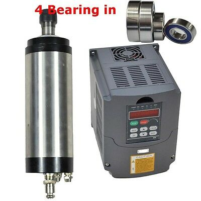 2.2Kw Er20 Water-Cooled Spindle Motor And 2.2Kw Vfd Matched Inverter Drive
