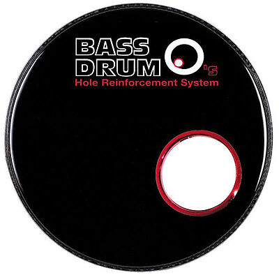 "DRUM O's Hole Verstärkungsring 6""  Red Chrome"