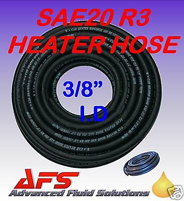 10mm 3/8 I.D EPDM Car Heater Coolant Rubber Hose SAEJ20 R3 Engine Rad Water Pipe