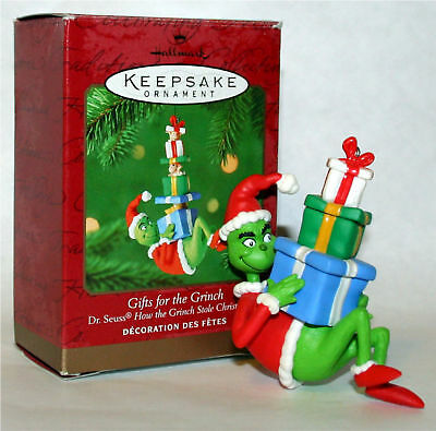 2000  Hallmark Ornament DR SEUSS GIFTS FOR THE GRINCH