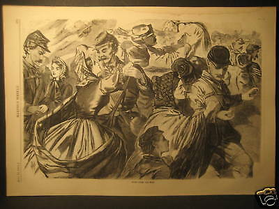 Winslow Homer N.A., Home From The War, Civil War Engraving 1863