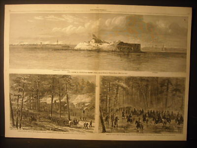 Sherman's Campaign In South Carolina, Fort Sumter, William Waud Engravings 1865