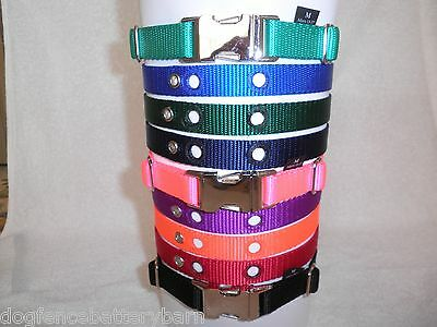 Replacement Nylon Dog Collars Metal Buckle for PetSafe, IF, MicroLite and more