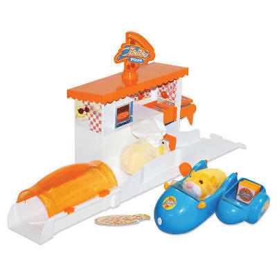 ZHU ZHU Pets Hamsters Pizza Shop & Delivery Motor Cycle Play Set Add-On Toy NEW