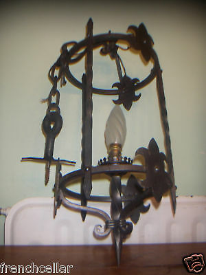 wrought iron gothic spanish lantern castle chandelier
