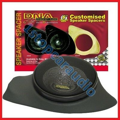 "6""-6.5"" inch GREY SPEAKER & TWEETER PODS vinyl fibreglass adaptor mount spacer"