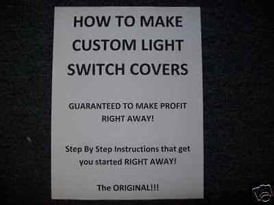 How To Make Light Switch and Other Covers - Make Money
