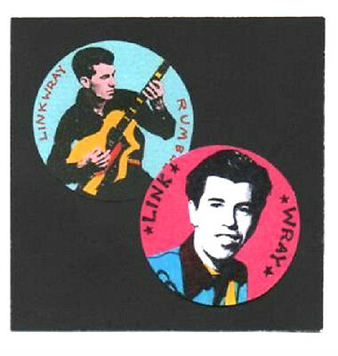2 LINK WRAY BADGES. Rock'n' roll, rockabilly.