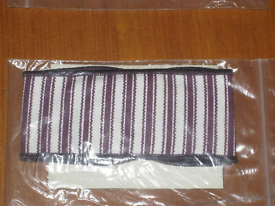 Longaberger PURPLE TICKING Small Handle Tie NEW USA