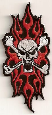 SKULL TRIBAL FLAME Embroidered Motorcycle MC Club NEW Biker Vest Patch PAT-1661