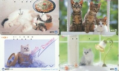 Japon - Japan - Gatos - Cats - Tarjetas Telef.- 1059