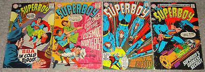 Superboy #151,153,155,158 Adams Cover G/vg To Vg-